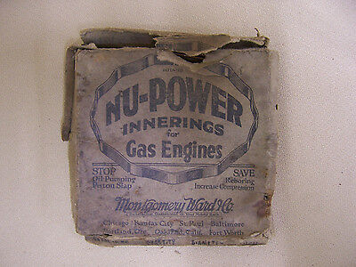antique Nu-Power Innerings for Gas Engines Montgomery Ward Co. Vntg Piston Rings