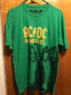 AC/DC AC DC HIGHWAY TO HELL ~ Men's Large ~ Chaser Made in Compton U$A T Shirt