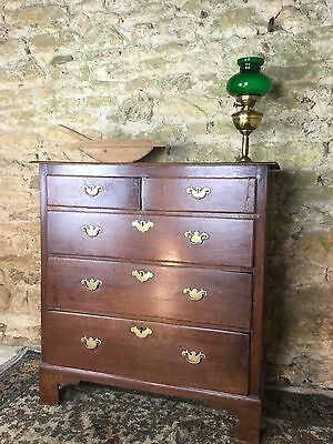 Georgian Oak Country Cottage Chest Of Drawers