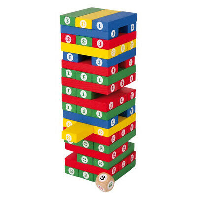 Numbers Tower Stacking Game Wood Shaking Tower Motor Skill Skill Toy