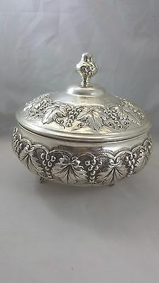 Vintage Sterling Silver .925 Footed Candy Dish w/ Lid