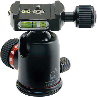 Photo Clam Pro Quick Shoe 30mm Biaxial Friction Ball Head PRO 30NS (Black) NEW