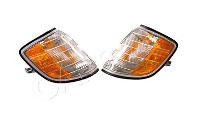 Mercedes S Class W140 1995-1999 Corner Lights Lamps Turn Signals PAIR LH + RH