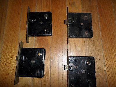 Lot of 4 Old Vintage Antique  Box DOOR LOCKS Hardware Parts