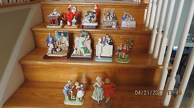 Norman Rockwell Figurines-collection of 11