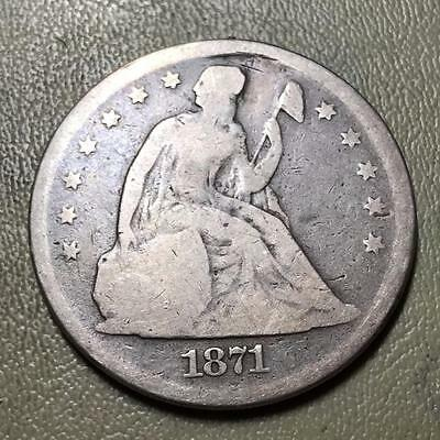 1871  Seated Dollar  Good Condition  Affordable  #6734