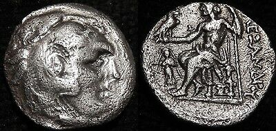 MORTOWN Alexander The Great Silver Drachm Hercules Lion Zeus Nike + Anchor!!!