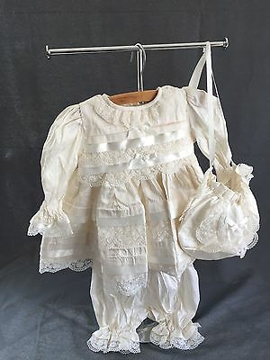 Sarah Louise 3 piece ivory silk christening/ formal party dress never worn