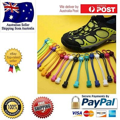 Shoe Laces Unsiex Women Men Kids Elastic No Tie Locking Shoelaces Sports Sneaker