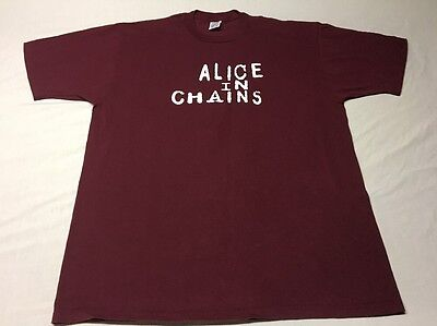 Vtg 1996 Alice In Chains Mtv Unplugged Concert Tour Shirt Very Rare Xl Excellent