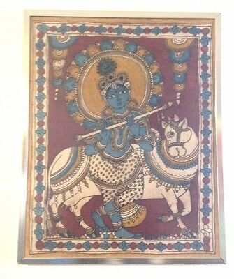 Antique Large Original Deity A Painting Hindu Religious Pattachitra Folk Art