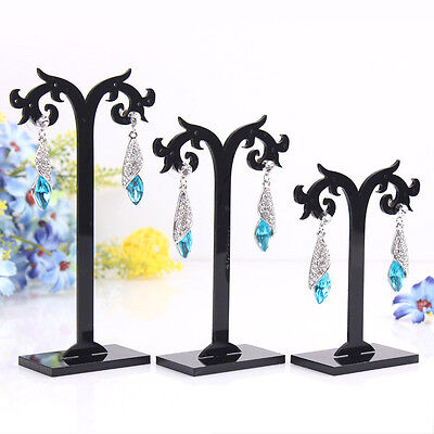 3 Pcs/Set Acrylic Earrings Display Stand Jewelry Organizer Holder Removable