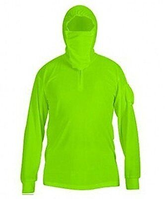 Mens UPF50 Sun UV Protection Quick Dry Hooded Fishing Shirts with Thumb Hole