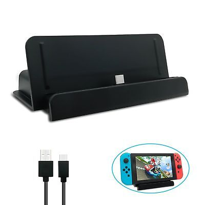 Charging Dock Cradle Stand with USB Port For Nintendo Switch Console TV Video