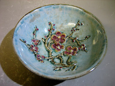 Vintage England hand painted pottery bowl