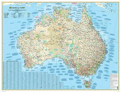 Australia 149 Gregory's Large 920 x 675mm Laminated Wall Map
