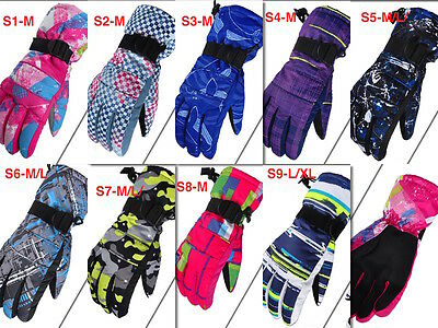 Snow Gloves Men Women Teenagers Ski Snowborading M/l