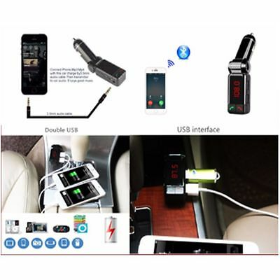 Bluetooth Car Kit Wireless FM Transmitter  USB Port Charger for Samsung iPhone
