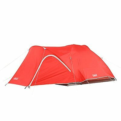 Coleman Hooligan 4 Person Camping Dome Tent w/ WeatherTec System | 9 ft x 7 ft