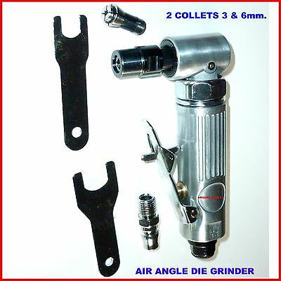 AIR ANGLE DIE GRINDER WITH 3 & 6 mm COLLET SIZES  - BRAND NEW.