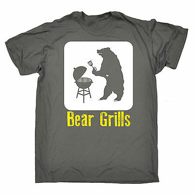 3d6bb210 Bear Grills BBQ Design MENS T SHIRT tee birthday fashion gift funny barbecue