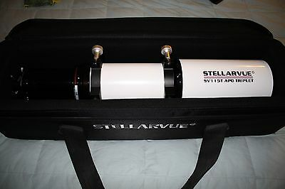 Stellarvue SV115T APO Triplet Refractor with Feather Touch, Case, Mounting Rings
