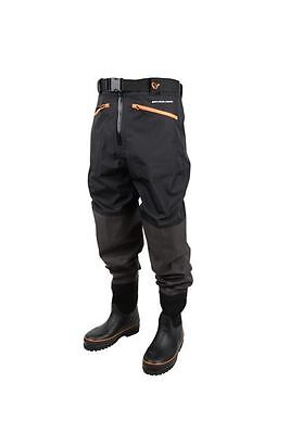 SAVAGE GEAR Breathable Waist Wader Boot Foot Cleated 40/41 - 6/7