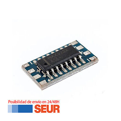 Adaptador Placa Modulo Mini RS232 MAX3232 Levels TTL Module Serial Converter