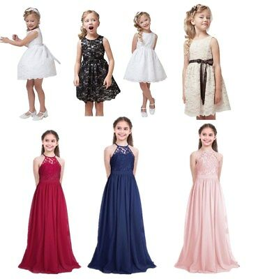 Flower Girls Dresses Lace Princess Party Wedding Pageant Dress Kids Formal Gown