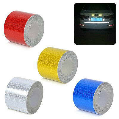 3m*5cm Reflective Strips Car Stickers Styling Motor Safety Warning Mark Tapes AU