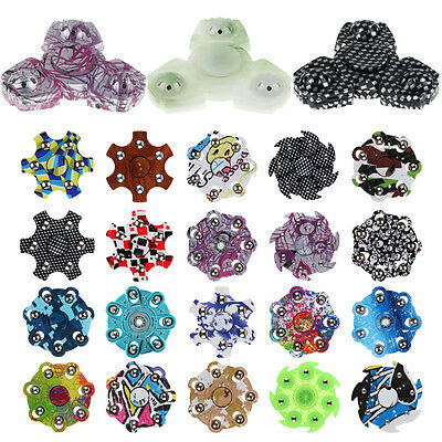 Popular Hand Finger Spinner Fidget Stress Relief Focus Toy Gift For Kids Adult~