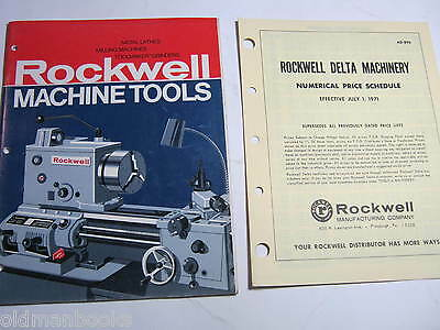 1971 Rockwell Machine Tools Catalog & Price Sheet Brochure 46 Pages