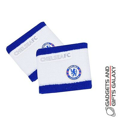 OFFICIAL CHELSEA FOOTBALL CLUB TWO TONE WRISTBAND SET OF TWO GYM Sporting goods