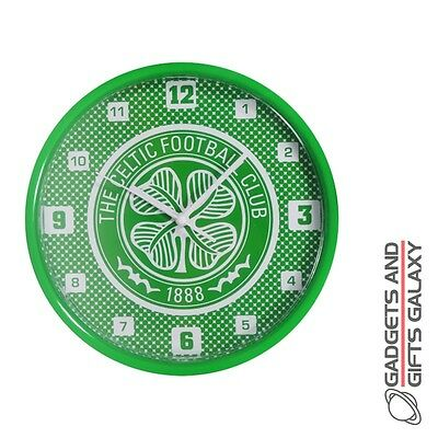 OFFICIAL CELTIC FOOTBALL CLUB BULLSEYE WALL CLOCK DECORATION Sporting goods