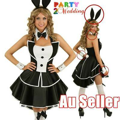 3Pcs Playboy Bunny Costume Hens Night Accessories Ears Bow Tie Cuffs Set