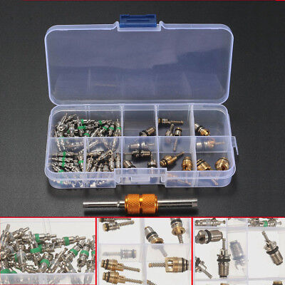 55PCS Valve Cores Remover Tool For Air Conditioning R12 R134A AC HVAC Kit System