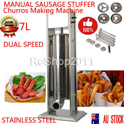 7L 2 In1 Stainless Steel Manual Churros Making Machine for Home&Commercial Use