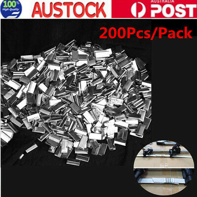 200 x Metal Seal Packing Strap Clips Buckle
