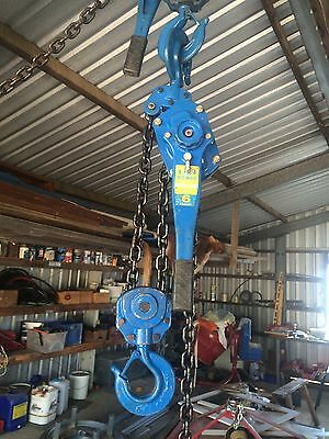 Lever Hoist Winch Nobles Rig mate 6 Tonne WLL, 3m , Cumalong, winch