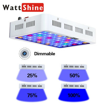 180W Dimmable LED Aquarium Light Dimmer Fish Coral Reef LPS SPS Sump Tank Plants