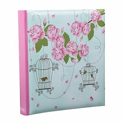 5 x 7'' Large Vintage Rose Memo Photo Album for 200 Photos Best Gift - BL57