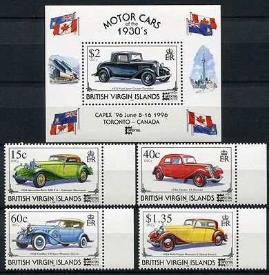 Jungferninseln Virgin Isl. 1996 Automobile Oldtimer Cars 861-864 + Block 87 MNH