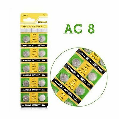 10 x AG8 LR1120 LR55 ALKALINE BUTTON COIN CELL WATCH BATTERIES 1.55V QUALITY NEW