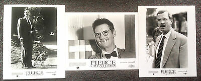 LOT OF 3 ORIGINAL PRESS PHOTOS FIERCE CREATURES John Cleese, Michael Palin