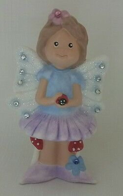 Jenny Fairy with Ladybug in blue and Purple **** Hand Made in Australia ****