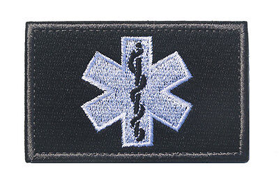 MEDIC NURSE ARMY MORALE TACTICAL EMBROIDERY Hook & Loop  PATCH BADGE  HS+ 831