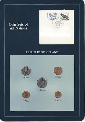 Coin Sets of All Nations - Iceland, 5 coin blue set