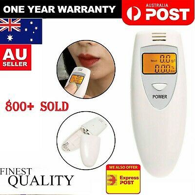 New Mini Digital LCD Alcohol Breath Tester Analyzer Breathalyzer Police Accurate
