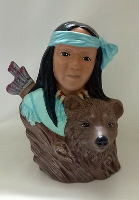 Native American Indian Bear Brave  Hand Made In Australia