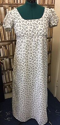 Regency Inspired Puff Sleeve Cotton Gown